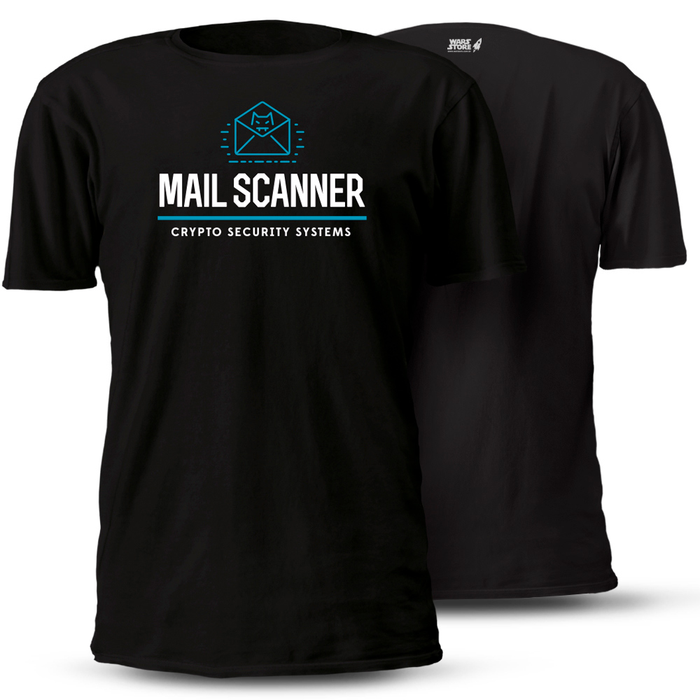 CAMISETA MAIL SCANNER CRYPTO SECURITY