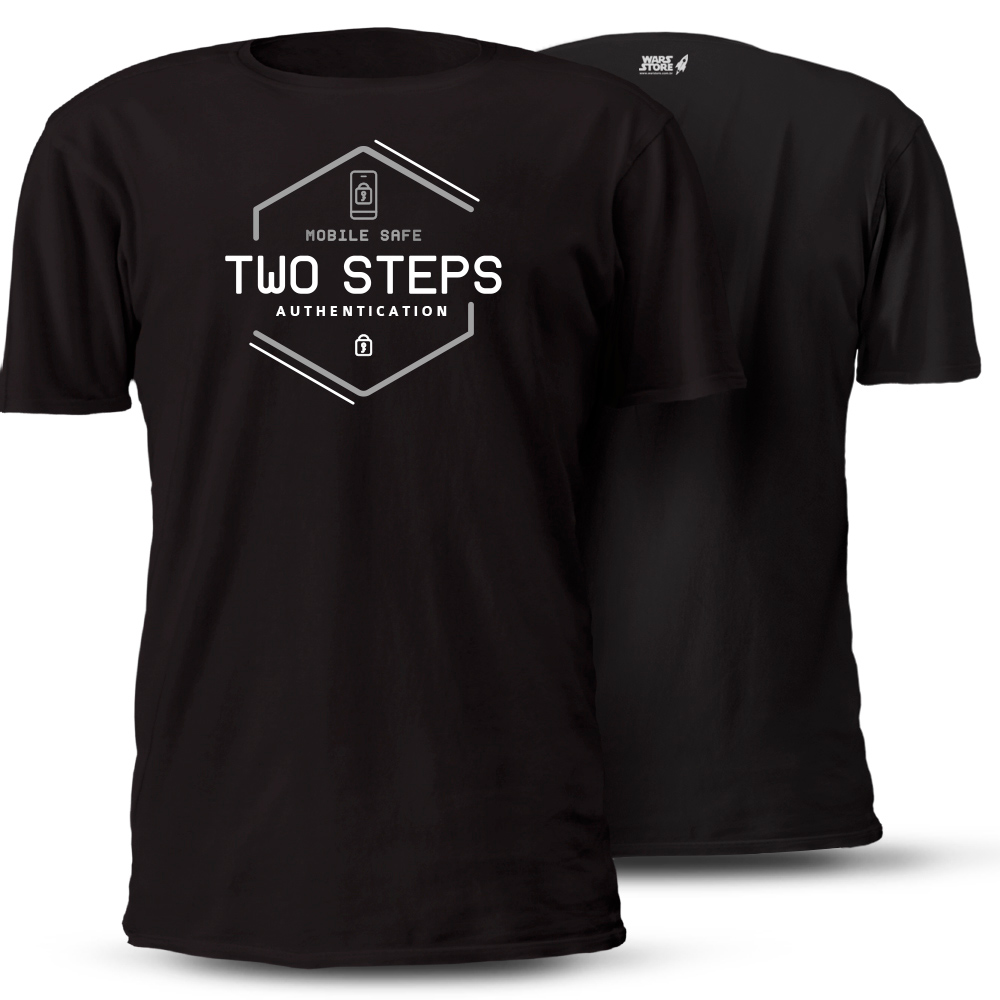 CAMISETA TWO STEPS AUTHENTICATION